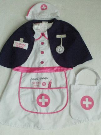 Adorable My 1st 'Nurse' Dressing up Fancy Dress + Accessories 3-5 years